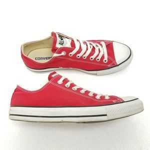 Converse CTAS Low Shoes Red M9696 Mens 9 Womens 11